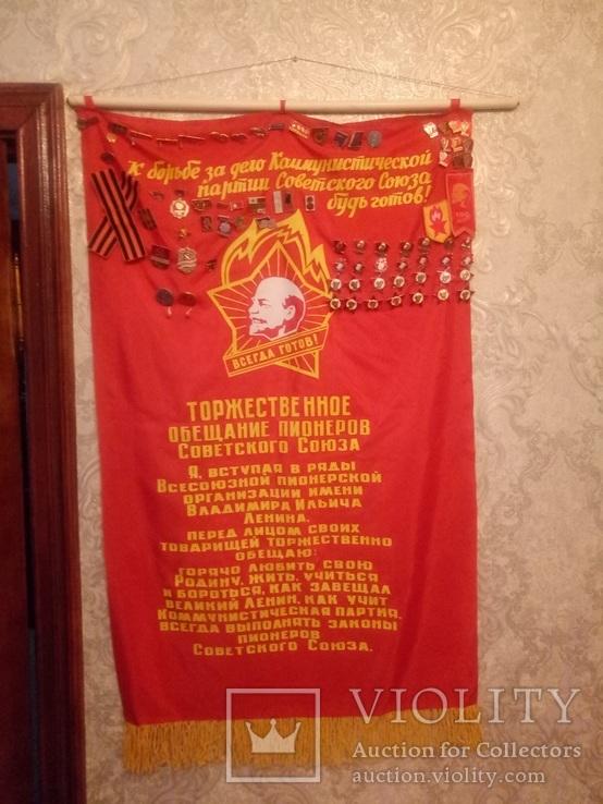 Торжественное обещание пионеров со значками, фото №2