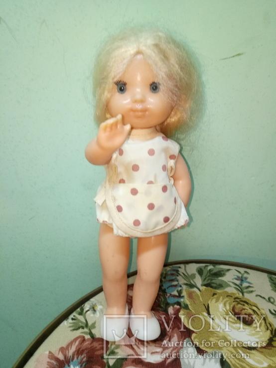 Кукола ссср.ранняя паричковая в фабричной одежде
