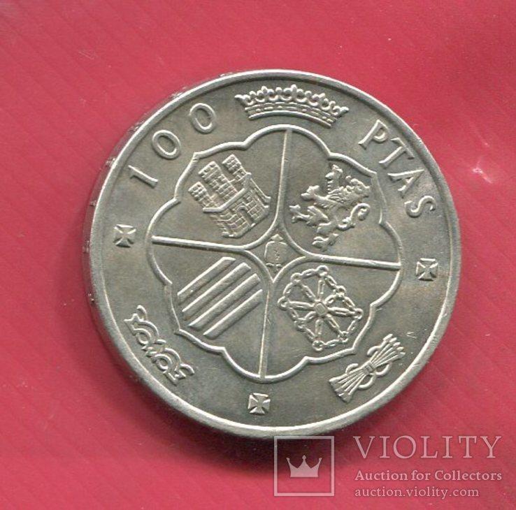 Испания 100 песет 1966 серебро Франко, фото №3