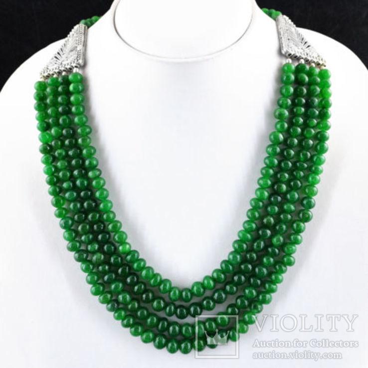 Ожерелье из натуральных изумрудов 700 карат, фото №2
