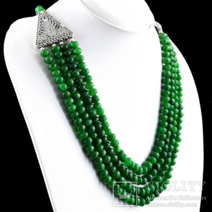 Ожерелье из натуральных изумрудов 700 карат, фото №3