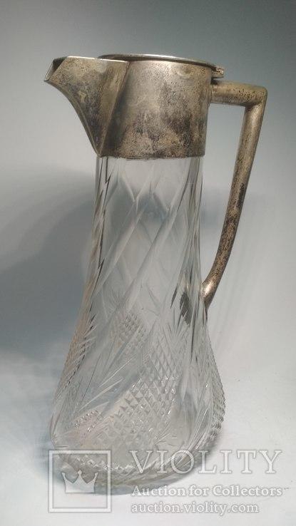 Старинный хрустальный графин, фото №2
