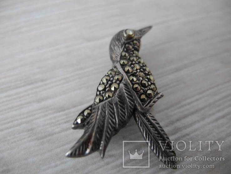 Брош Птичка ( серебро 925 пр), фото №4