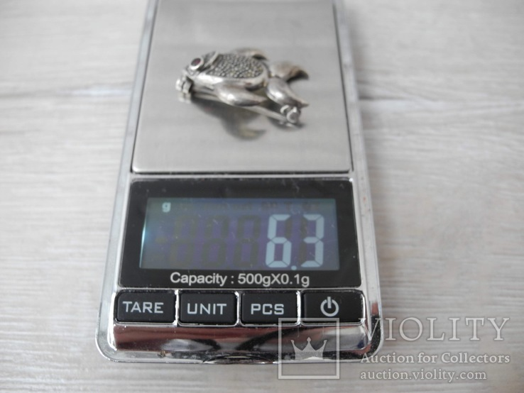 Брош Рыбка ( серебро 925 пр), фото №9