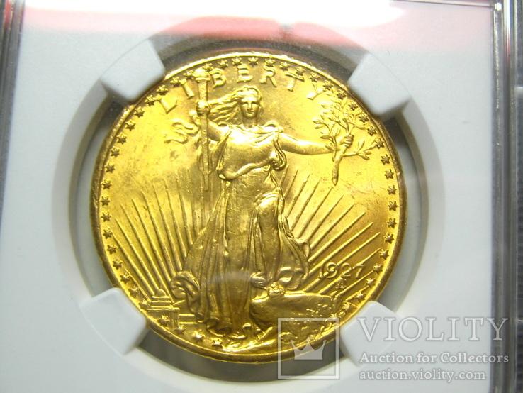 США 20 долларов 1927 г. NGC MS63+, фото №4