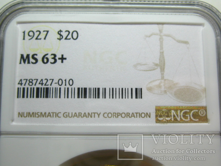 США 20 долларов 1927 г. NGC MS63+, фото №6