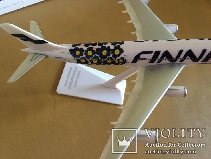 Модель самолёта Finnair A340, 1:250, фото №5