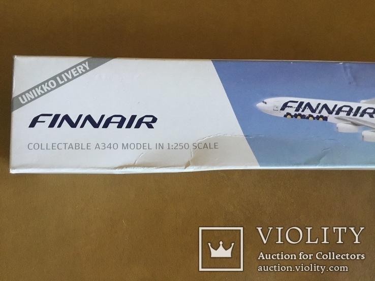 Модель самолёта Finnair A340, 1:250, фото №7
