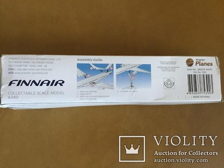 Модель самолёта Finnair A340, 1:250, фото №8