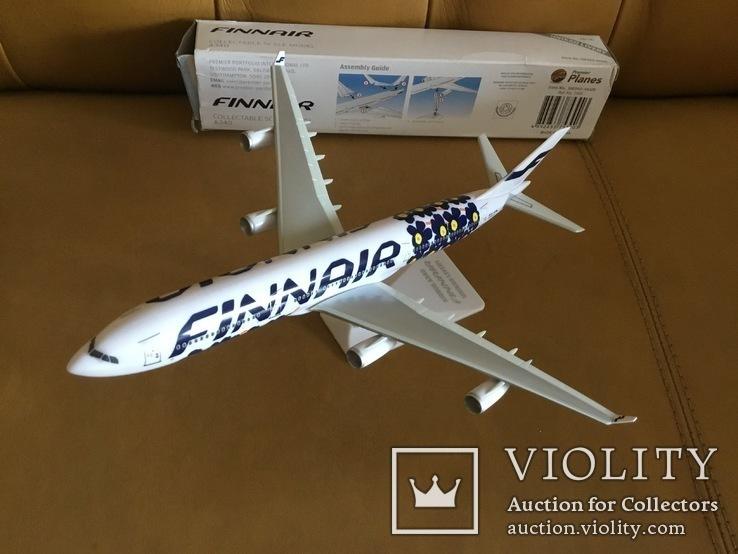 Модель самолёта Finnair A340, 1:250, фото №9