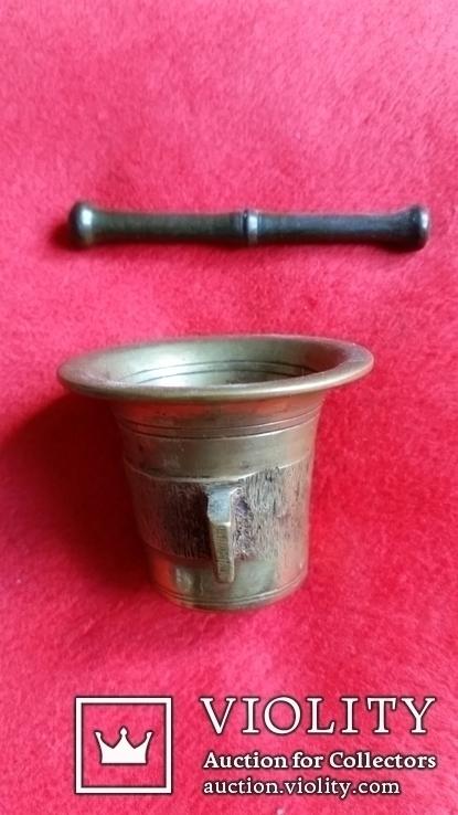 Ступка маленька з товкачиком Н4,1  Ф5,3  124,7г., фото №5