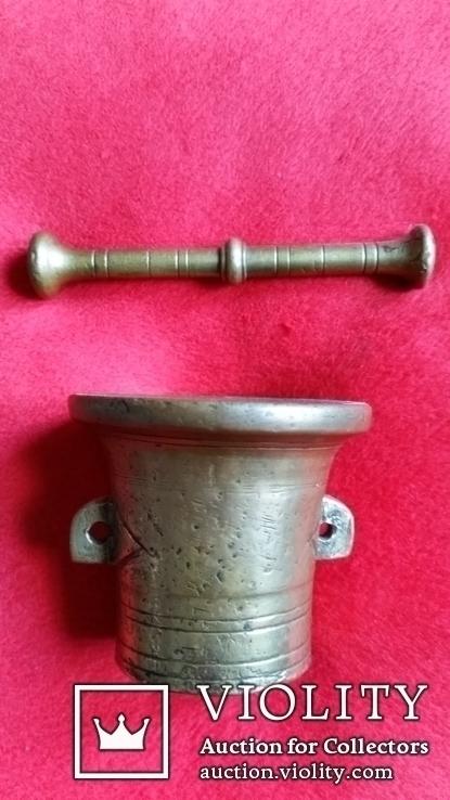 Ступка маленька з товкачиком Н5,4  Ф6,3  316,8г., фото №4