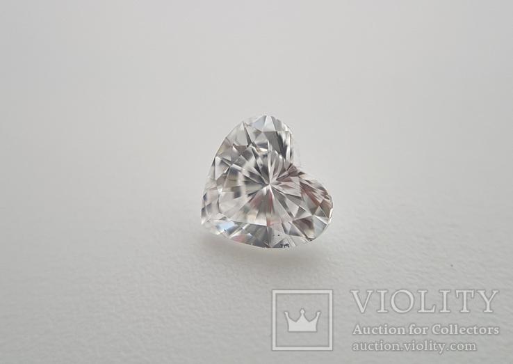 Природный бриллиант огранка сердце 0,24 карат, фото №2