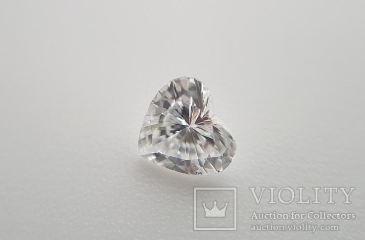 Природный бриллиант огранка сердце 0,24 карат, фото №3