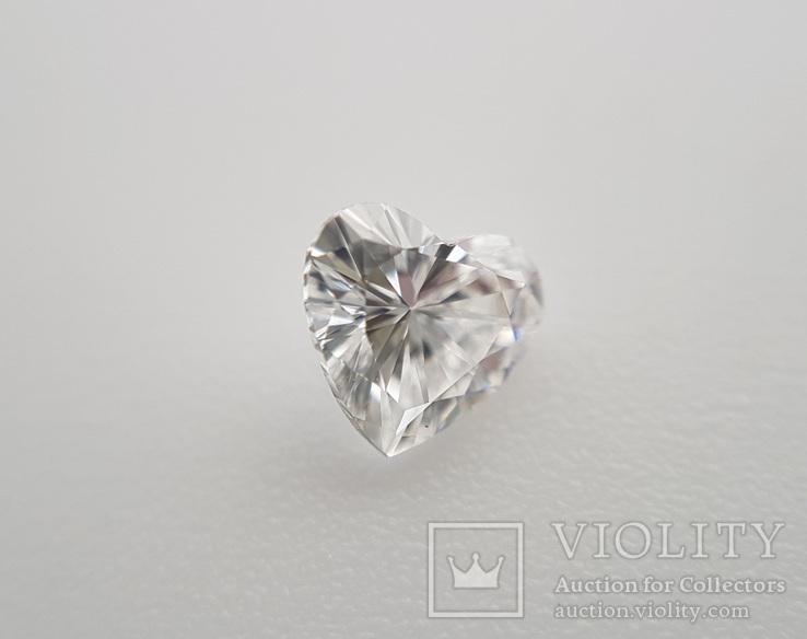 Природный бриллиант огранка сердце 0,24 карат, фото №4
