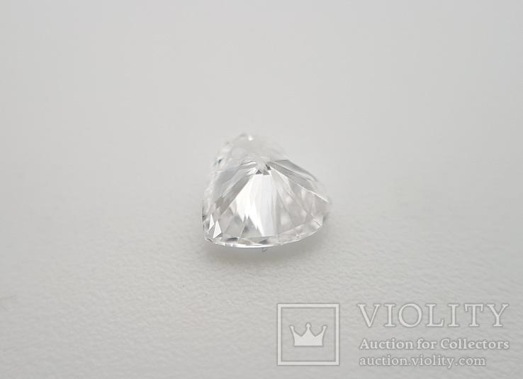 Природный бриллиант огранка сердце 0,24 карат, фото №5