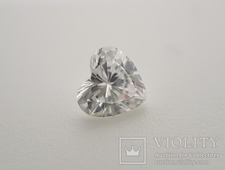 Природный бриллиант огранка сердце 0,24 карат, фото №6