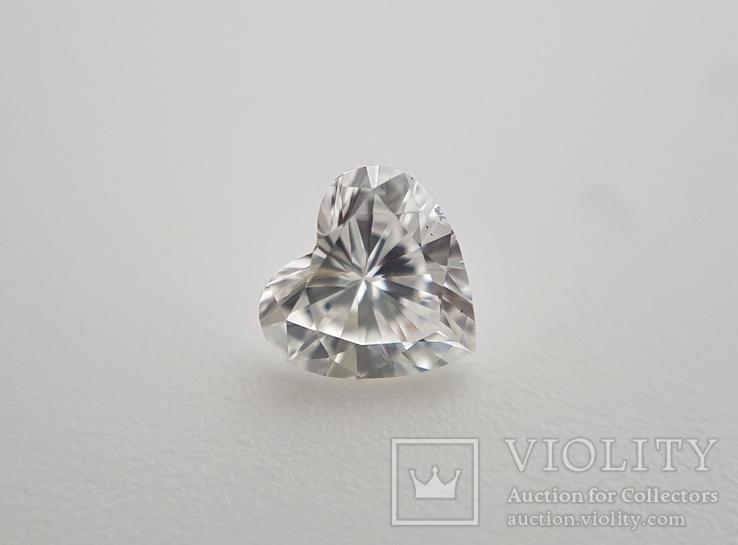 Природный бриллиант огранка сердце 0,24 карат, фото №7