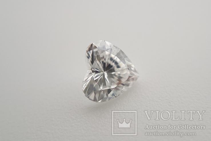 Природный бриллиант огранка сердце 0,24 карат, фото №8