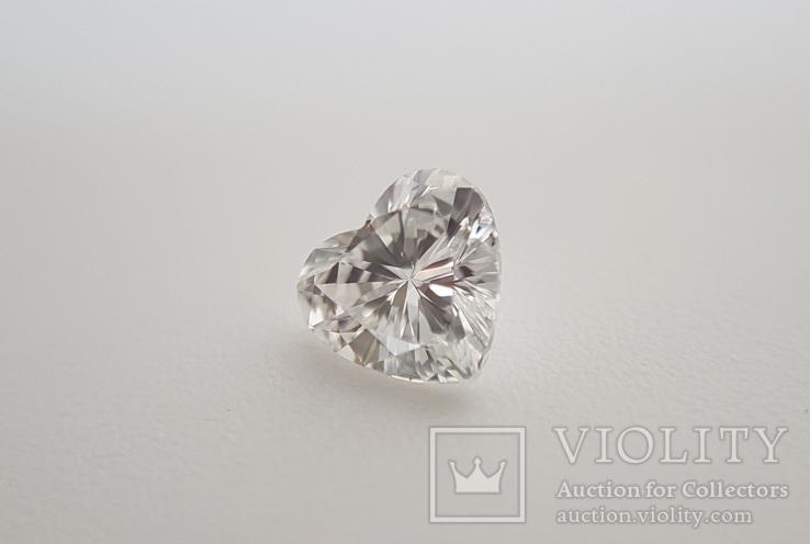 Природный бриллиант огранка сердце 0,24 карат, фото №9