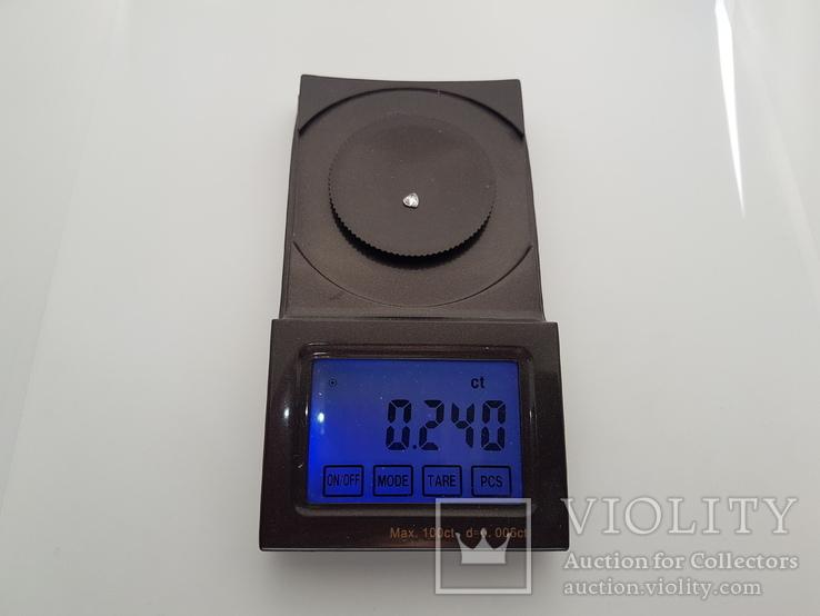 Природный бриллиант огранка сердце 0,24 карат, фото №10