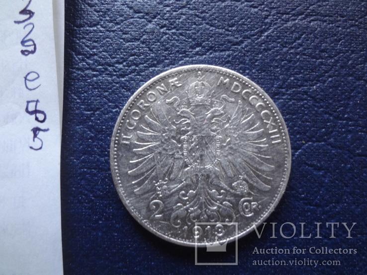 2  кроны 1913  Австро-Венгрия    серебро   (Е.8.5)~, фото №5