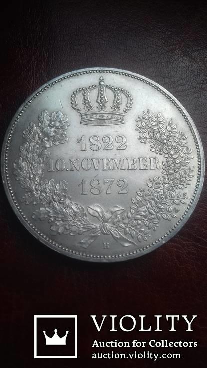 2 талера 1872 р. Саксонія. Золоте весілля короля Йоганна та Амалії., фото №8