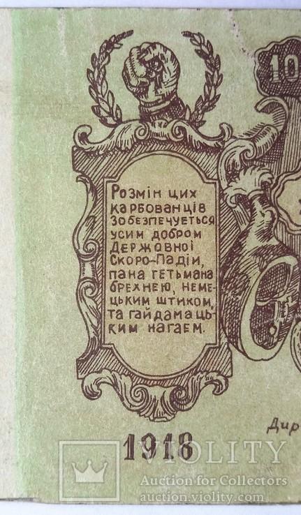 100 карбованцев 1918 года. Агитационная бона. Законченная, в цвете, фото №6