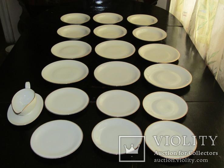 Антикварный сервиз тарелки блюда соусник фарфор Winterling in Röslau 1907-1950 Германия