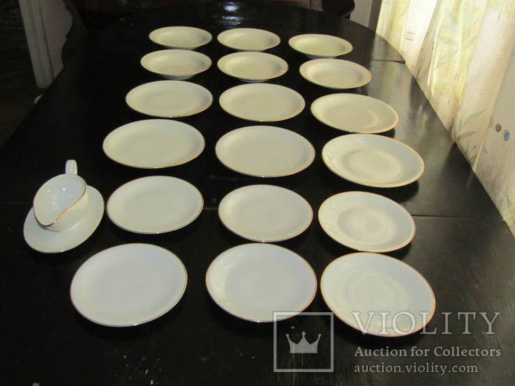Антикварный сервиз тарелки блюда соусник фарфор Winterling in Röslau 1907-1950 Германия, фото №4