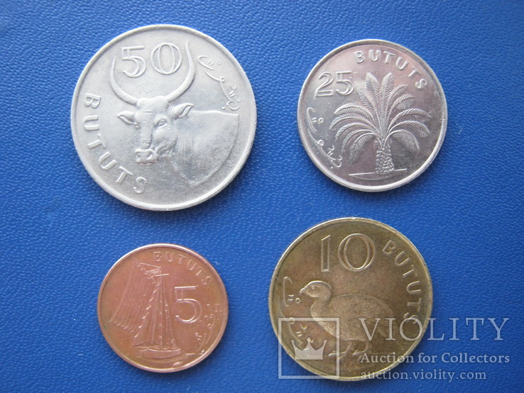 5 ,10 , 25 , 50 бутутов Гамбии 1998 г.