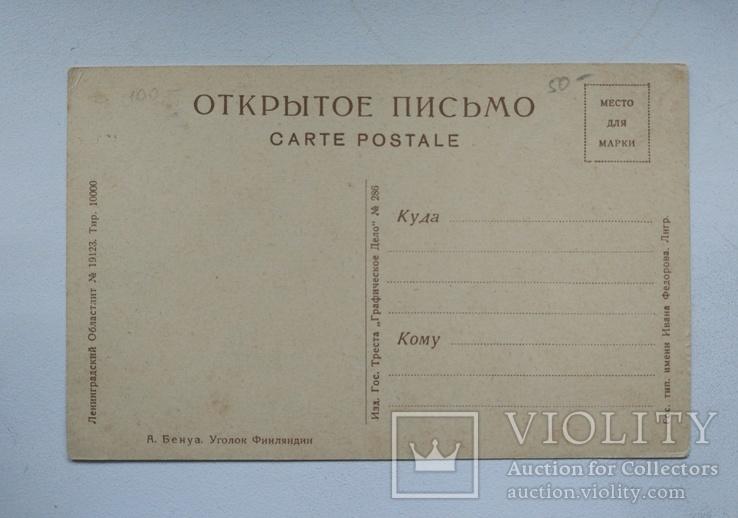 """1920-е, А.Бенуа """"Уголок Финляндии"""", Ленгублит, фото №3"""