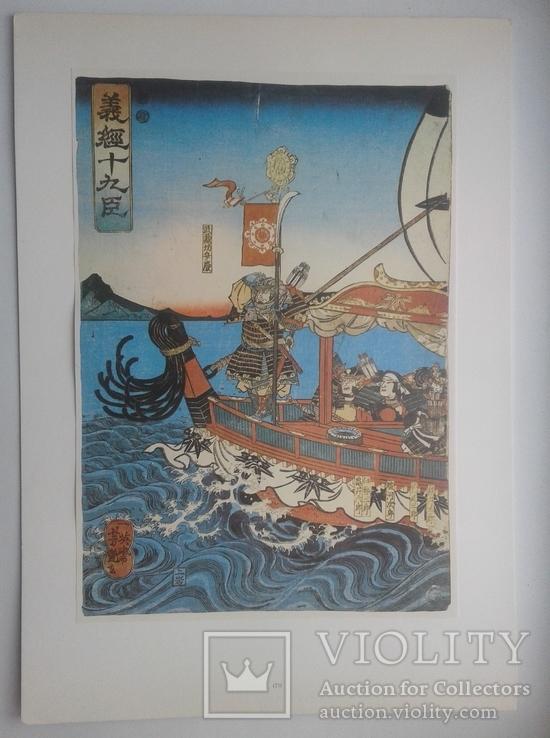 Двадцать семь японских гравюр 18-19 вв., фото №4