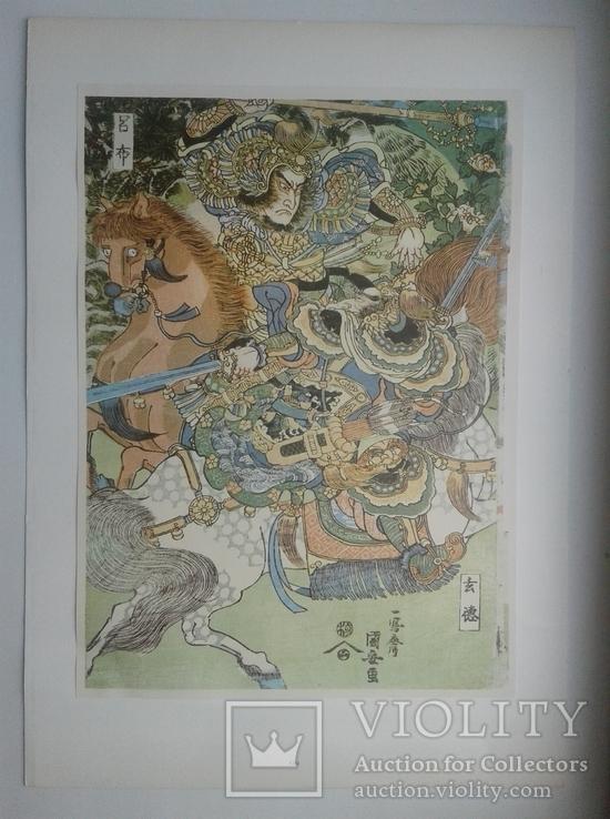 Двадцать семь японских гравюр 18-19 вв., фото №8