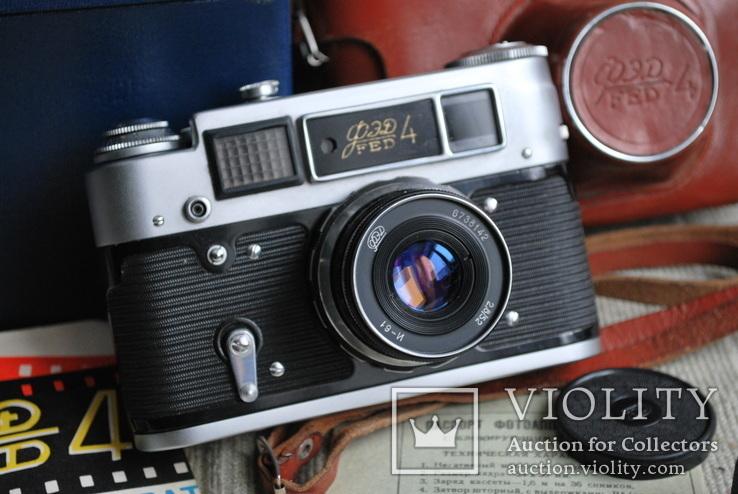 Фотоаппарат ФЭД-4, с И-61, Юбилейный выпуск 50 лет Октября, упаковка, инструкция., фото №3