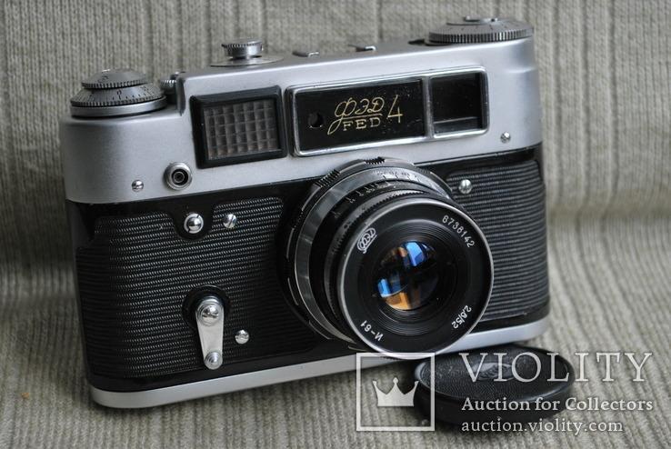 Фотоаппарат ФЭД-4, с И-61, Юбилейный выпуск 50 лет Октября, упаковка, инструкция., фото №5