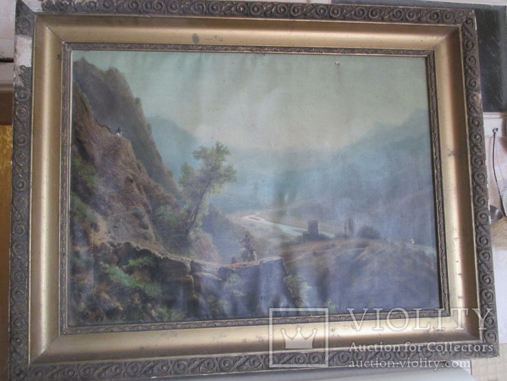 В горах.художник Лагорио