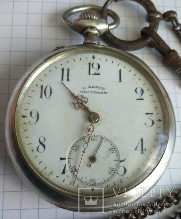 Часы ZEECK GRAUDENZ серебро