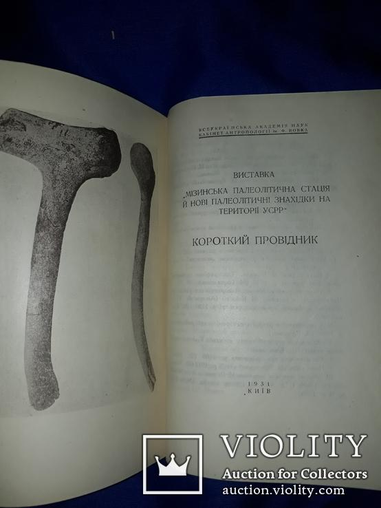 1931 Мiзин. Кістянi вироби мізинської палеолітичної стації в освітленні Федора Вовка, фото №7