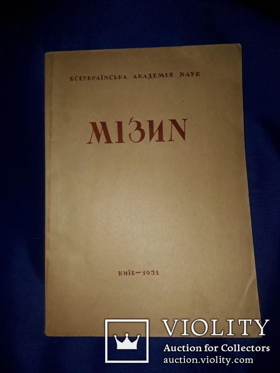 1931 Мiзин. Кістянi вироби мізинської палеолітичної стації в освітленні Федора Вовка, фото №11