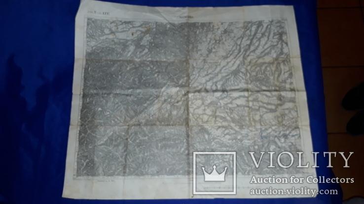 1912 Карта Галиции 53х45 см.