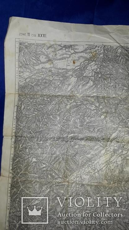 1912 Карта Галиции 53х45 см., фото №3