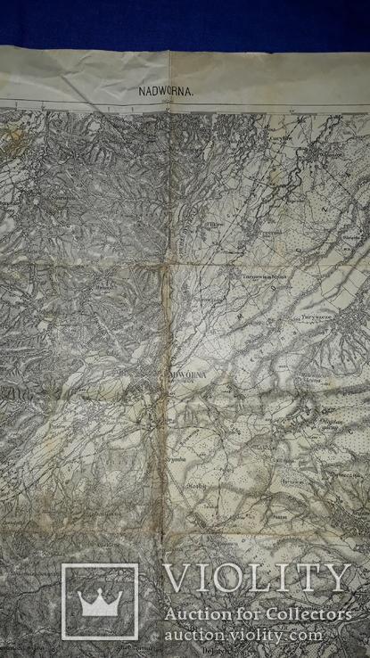 1912 Карта Галиции 53х45 см., фото №5