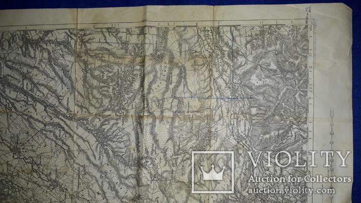 1912 Карта Галиции 53х45 см., фото №6