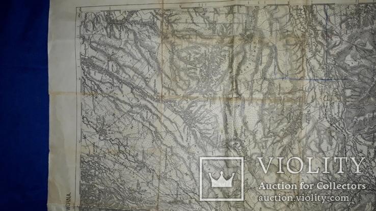 1912 Карта Галиции 53х45 см., фото №9