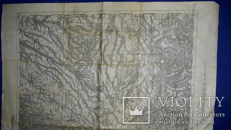 1912 Карта Галиции 53х45 см., фото №11