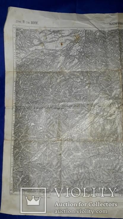 1912 Карта Галиции 53х45 см., фото №12