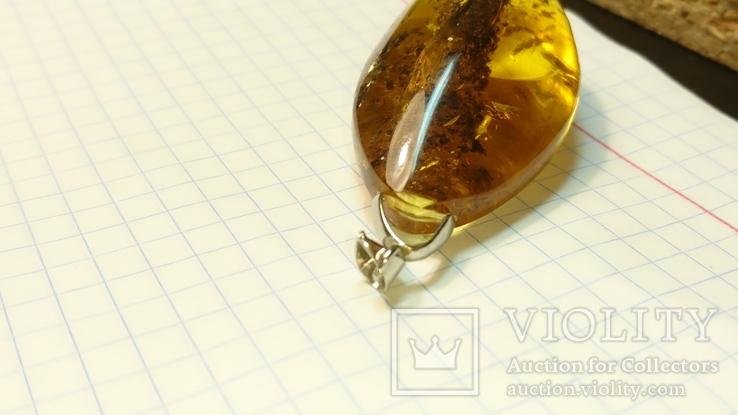 Кулон янтарь 16,2 грамм, фото №8