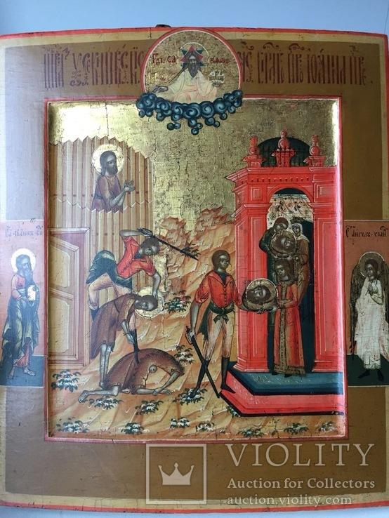 Икона Усекнове́ние главы́ Иоанна́ ХІХ век