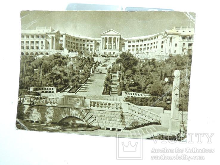 Фото открытки 5шт Сочи Крым Ласточкино гнездо девушки 1950е годы, фото №3